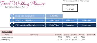 Download Wedding Planner Excel Workbook Wedding Planner