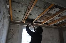 soundproof ceiling insulation. Delighful Insulation Over The Weekend We Installed Soundproofing Insulation Between Beams In  Ceiling Insulation Ceiling Isnu0027t Necessary But It Does Make A Room  Intended Soundproof Ceiling W