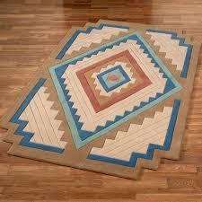 canyon stepped rectangle rug saddle brown