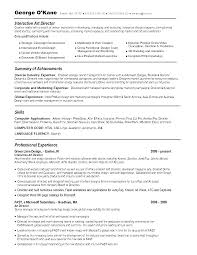 Ideas Collection Creative Director Resume Examples Simple Art