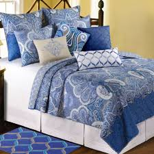 daphne blue paisley medallion quilt bedding quilts queen size expand yellow and grey heavy blanket