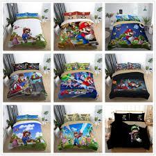 details about 3d super mario odyssey quilt cover comforter cover kids bedding set pillow case