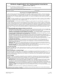 sr22 insurance policy form