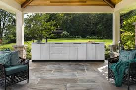 Newage Products 65106 Outdoor Kitchen Cabinet Set In Stainless Steel