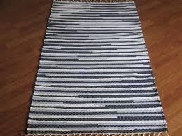 navy white blue 2½ x 3½ ft kitchen and bath rug