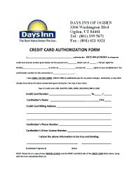 cc auth form crowne plaza credit card authorization form fill online printable