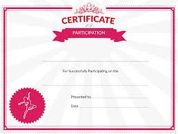 Dance Award Certificate Printable Dance Certificate Of Participation Award