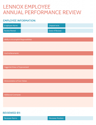 Annual Review Forms For Employees 7 Highly Customizable Employee Performance Review Templates