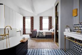 Modern bedroom with bathroom Open Plan Modern Bedroom Ideas House Garden Modern Bedroom Ideas Modern Bedroom Furniture House Garden