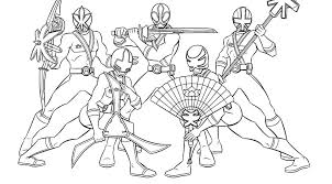 Power Rangers Coloring Pages Printable Samurai Colouring To Print