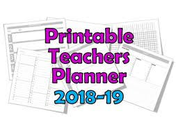 Planner 5 Teacher Planner 2018 19 Printable 4 5 6 7 8 Lessons Per Day By