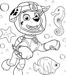 Coloring Pages Of Paw Patrol Paw Patrol Tracker Coloring Pages Paw
