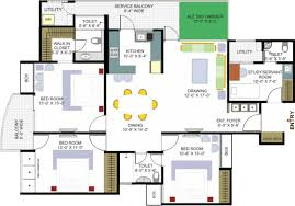 kerala home design floor plan with plans pattern