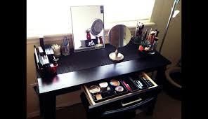 makeup setup bathrooms small set furniture case diy es bedroom desk wheels bedrooms mirror lighting vanity