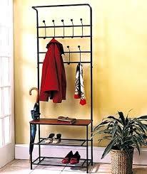 hallway coat rack iron foyer coat rack hallway bench shelf shoe organizer storage within realistic photos of hallway