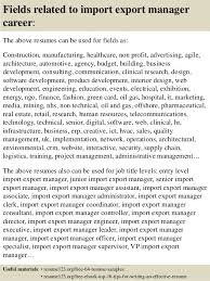 Import Export Specialist Sample Resume Inspiration Top 48 Import Export Manager Resume Samples