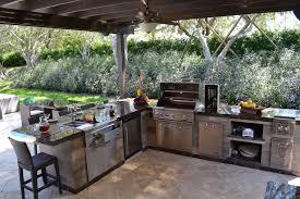 outdoor kitchen under pavilion