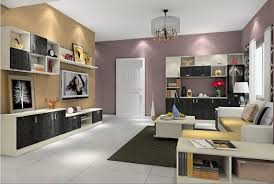 Tv Cabinets For Living Room Living Room Tv Cabinet Combo With Flower Arrangement 3d House