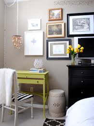 Painting Bedroom Furniture Before And After Desk Makeover Using Make Your Own Chalk Finish Paint Jenna Burger