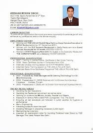 resume of hotel management