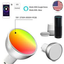 4xPacks GU10 <b>WiFi Smart Light</b> Bulb Dimmable Compatible for ...