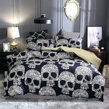 skulls comforter sets lot sugar skull printed queen bedding king twin size luxury bed set gard skull comforter set for bed