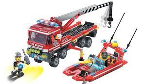 <b>Конструктор Enlighten Brick Пожарная</b> машина и катер (420 ...