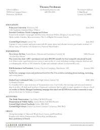 Political Campaign Resume Sample Best of Resumes Examples For College Students Good Resume Example For