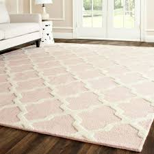 pink and cream rug far fetched pale elegant remarkable area for nursery with white interior design