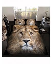 Bedding Duvet Cover Set <b>3D</b> Animal Bedding Pillow Case Lion and ...