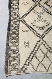mid century modern vintage beni ourain rug from morocco for
