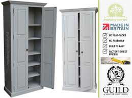 Tall Kitchen Storage Cabinet Traditional 2 M Tall Painted Pantry Linen Bathroom Kitchen Storage