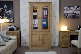 library unit furniture. Torino Solid Oak Glass Display Cabinet/Library Unit Library Furniture O