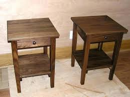 side table with glass door tables 1 drawer shaker in natural walnut