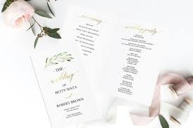 Wedding Program Inclusions Folded Wedding Program Printable Folded Program Editable Program 16
