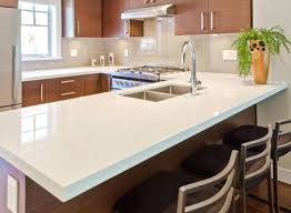 quartz in kitchen arctic white quartz kitchen 2 images picture inspirations
