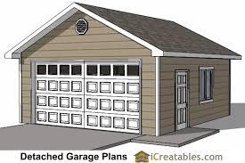 20x20 detached garage plans