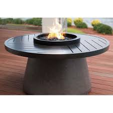 aragon 48 round fire table with slate top
