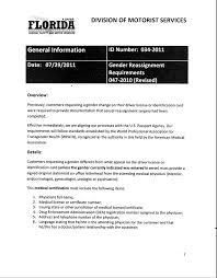 Dmv Application Form Best Florida DMV Gender Marker Change Requirements Gulf Coast