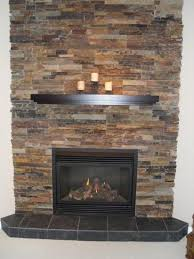Furniture Contemporary Stone Gas Fireplace For Rustic Home DesignGas Fireplace Ideas
