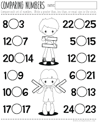 Worksheets Kindergarten Greater And Less Than For More Picture ...
