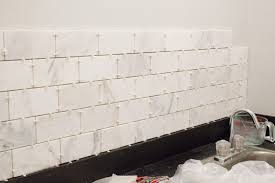 if you re thinking of installing marble subway tile