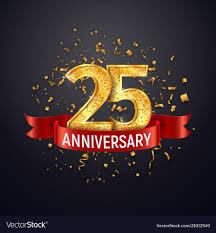 Anniversary Template 25 Years Anniversary Logo Template On Dark Vector Image