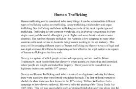 human trafficking essay thesis writing