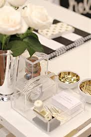 office supplies in lucite gold i like the little bowls for pins