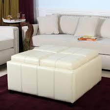 White leather coffee tables Round Shape White Leather Ottoman Coffee Table Dedimonstercom White Leather Ottoman Coffee Table Round White Leather Ottoman