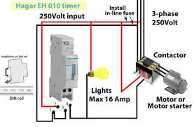 wiring diagram pole contactor wiring image hagar timers and manuals on wiring diagram 3 pole contactor