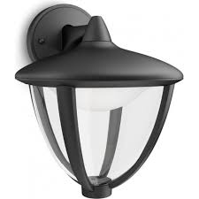 robin single light led outdoor wall ing in black finish