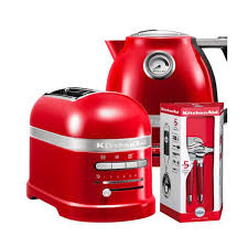 kitchenaid artisan empire red 2 slot toaster and kettle set harts of stur