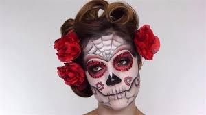 final look easy day of the dead makeup tutorial perfect for